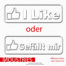 I Like ODER Gefällt mir Sticker Aufkleber 14x5 Auto Car Decal JDM