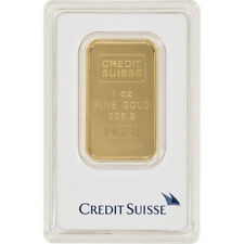 1 oz. Gold Bar - Credit Suisse - 99.99 Fine in Assay