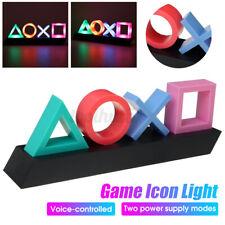 Sinal de Playstation Jogo de controle de voz Luz Icon Luz ambiente atmosfera de Acrílico