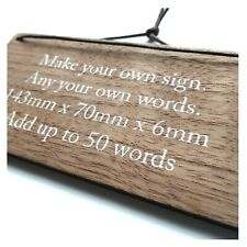 Personalised Shabby Wooden Sign Custom Bespoke Made Wall Door Hanging Plaque