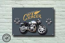 Cafe Racer Panneau Métallique, Moto, Moto, Biker ,Vintage,Publicité ,981