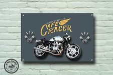 Cafe Racer Metallschild,Motorrad,Motorrad, Biker, Vintage,Werbung,981