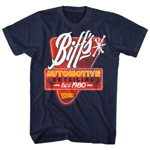 Back To The Future Biff's Automotive Detailing 1980 Men's T Shirt Garage Movie