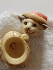 New listing Retired 2001 Harmony Kingdom Ball Pot Bellys Noel Cat Figurine W/ Mouse