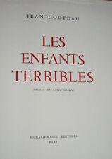 Cocteau : Les enfants terribles,11 dessins de Nancy Gräffe - Richard-Masse 1950