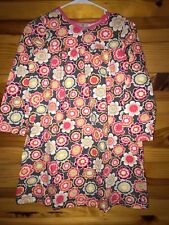 Hanna Andersson Gray Floral Dress EUC Girls Size 140 10-11-12