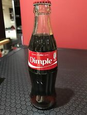 Personilised Coke Bottle Glass 250ml Dimple Coca-Cola