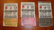 Willie Mays Home Run Ticket Stub San Francisco Giants 6/20/64 Cepeda 2 HR's