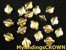 120 pcs Antiqued gold metal Smooth flat round spacers FC868