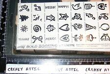 STAMPIN UP BOLD BOOKING STAMPS 28 RUBBER STAMPS TINY MUSIC TREE FLOWER