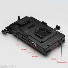V-Mount Battery Power Supply Station fr 5D3 5D2 DSLR Shoulder Rig LCD Monitor