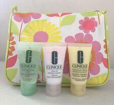 Clinique 3 Step Skincare Kit Travel Set Foaming Cleanser Lotion 30ml Each & 1Bag