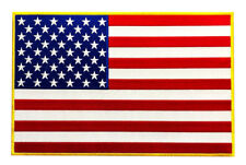 Large USA American Flag Jacket Vest Back Patch [11.0 X 7.0 inch Iron on Sew on]