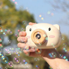 Cartoon Pig Camera Bubble Machine Blower Automatic Bubbling for Kids Toys Gift