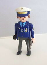 PLAYMOBIL (K2128) POLICE - Homme Officier Tenue Blue Camion Fourgon 3166
