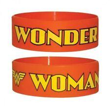 Official Wonder Woman - Logo - Orange Rubber Gummy Wristband
