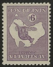 ROO 9d Acsc 27Aa~SG39b VIOLET DIE2B 3RD INVERTED WMK MNH.
