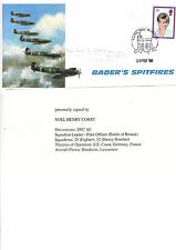 BADERS SPITFIRES COVER AUTOGRAPHED BY NOEL HENRY CORRY DFC. AC.