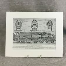 Vintage Art Deco Print Steam Train Locomotive LNER Railway 1930s