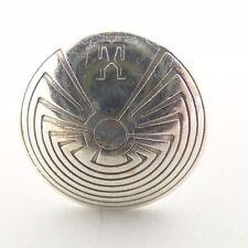 """Navajo/Hopi Sterling Silver """"Man in the Maze"""" Ring"""