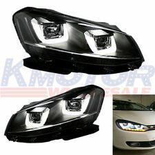 New Assembly DRL Headlights Lamps Led For 2008-2014 VW Volkswagen Golf MK6 GTI