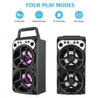 Bluetooth Wireless Portable Stereo Speaker Super Bass with USB/TF/AUX/FM Radio