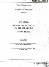 Curtiss Wright R-1820 Cyclone Technical Overhaul Manual rare detailed archive