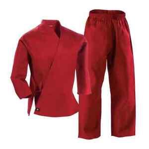 Century Red 6oz Lightweight Martial Arts Uniform Gi Size 0