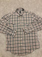 Mens Hugo Boss Slim Fit multi-color Plaid Button Up Long sleeve dress shirt XL