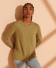 Superdry Womens Organic Cotton Scripted Long Sleeved Crew Top