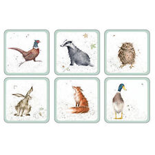 Pimpernel Animal Print Square Coasters