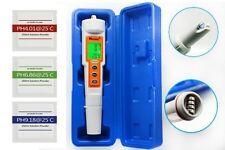 Digital PH Tester Meter Testing Temperature Tap Aquarium Pool With Buffer