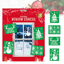 4 Large Designs A4 Christmas Window Stencils Use With Snow Spray Snowflakes Tree