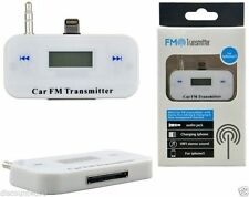 WIRELESS CAR MP3 FM RADIO TRANSMITTER HANDS FREE FOR MOBILE iphones 5 5s 5c New