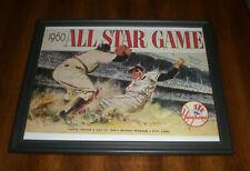 1960 ALL STAR GAME FRAMED PROGRAM COVER COLOR PRINT
