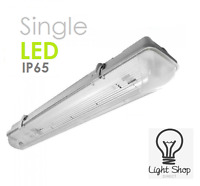 T8 LED Ready Non Corrosive Fittings Single/Twin Striplight 2ft 4ft 5ft 6ft 6000k