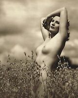 Original Vintage Outdoor Female Nude Everard Photo Gravure Print 40s40