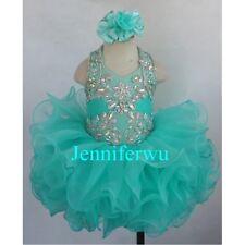 Infant/toddler/kids/baby/children Girl's Glitz Pageant Dress 1-6T G153B