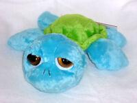 SUKI Schildkröte Luke mittel Turtle  25 cm hellblau neongrün