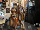 Huge Antique Austrian Ceramic Figure Statue
