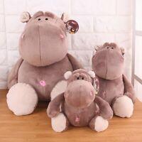 Gray Cute Baby Hippo Stuffed Animals Soft Dolls Plush Toy Hippopotamus @LF
