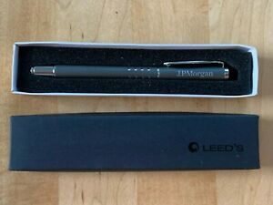 J.P. Morgan Promotional Turned Metal Ball Point Pen by LEED'S - NEW IN BOX