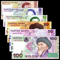 Kyrgyzstan 1997-2002 > 1, 5, 10, 20, 50, 100 Som, Banknote set of 6 UNC