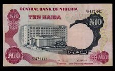 NIGERIA  10 NAIRA ND ( 1973-78 ) PICK # 17b F-VF.