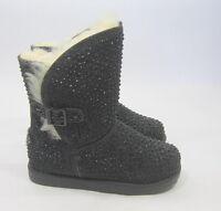 new Black Urban Glitter Rhinestone Ankle Toddler Boot Size 12