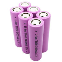 1-6 X18650 INR 3400mAh High Drain 3.7V Li-ion Rechargeable Battery for Notebook