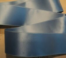 "1"" SWISS DOUBLE FACE SATIN RIBBON  - PORCELAIN BLUE"