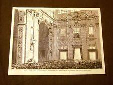 Roma 20 febbraio 1878 Basilica Vaticana La prima benedizione di Papa Leone XIII