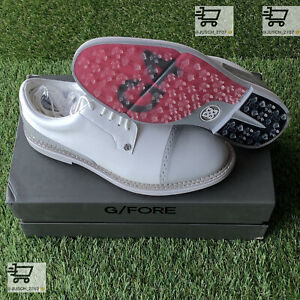 G/Fore Gfore G4 CAP TOE Golf Shoes Sneaker⛳️ US 10.5 ⛳️ Oxford White Gray Skull
