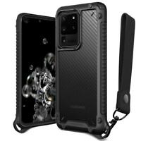 For Galaxy S20 Ultra/ Plus Case VRS®[Crystal Mixx Pro]Carbon Pattern Clear Cover